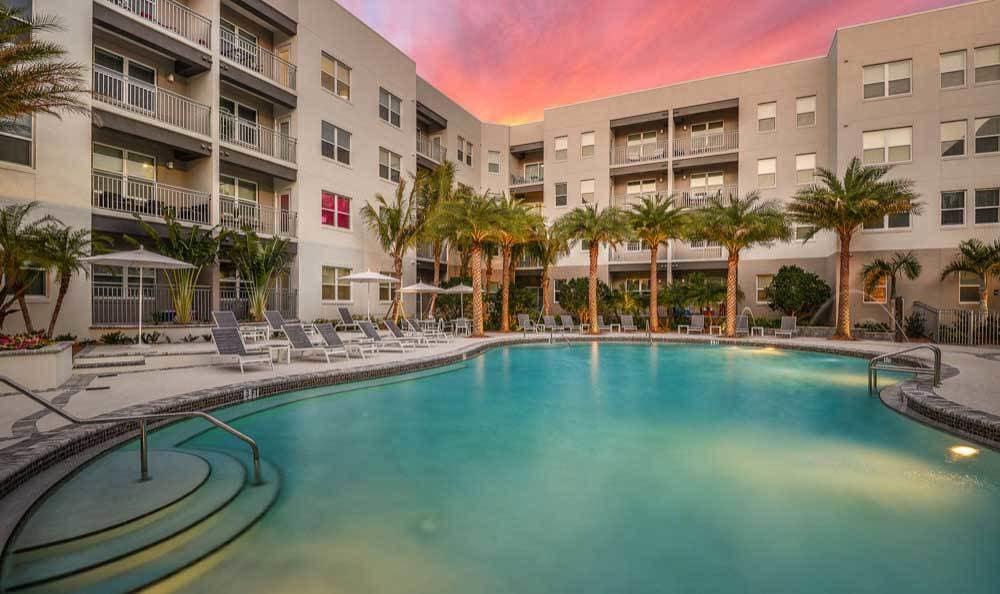 Pool at apartments in Sarasota