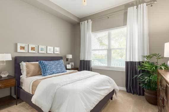 Comfortable bedroom in our Sarasota, FL apartments