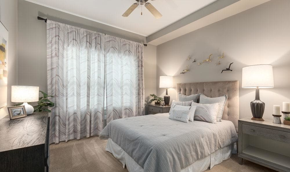 Example bedroom at apartments in Sarasota