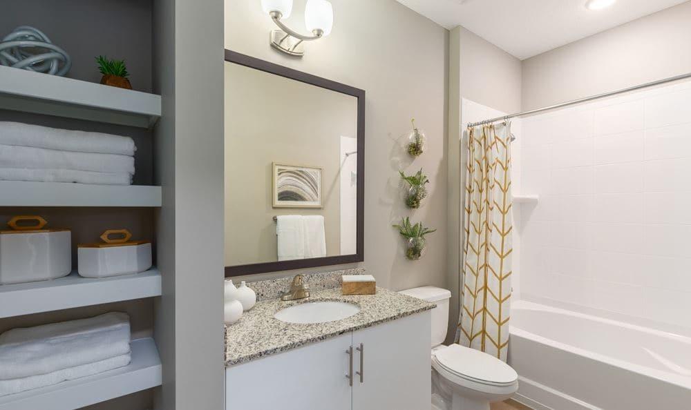 Example bathroom at apartments in Sarasota