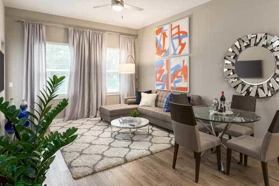 Model Living Room at CitySide Apartments in Sarasota