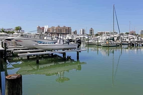 Boat near CitySide Apartments