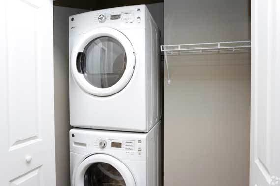 washer and dryer at CitySide Apartments