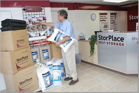 Packing supplies available at StorPlace of Stones River