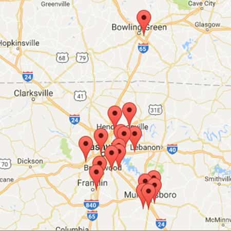 Map of StorPlace Self-Storage locations