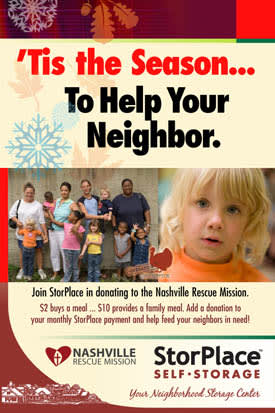 Nashville Rescue Mission flyer