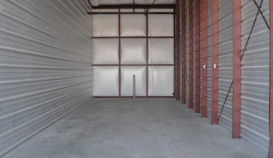 Large storage unit at Comstock Boat and RV Storage