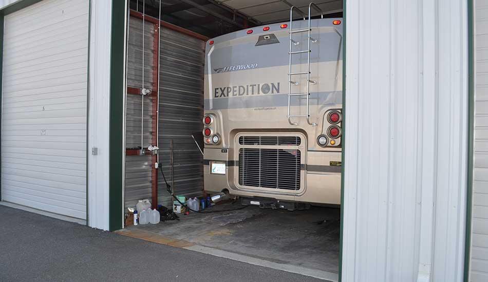 Covered RV storage at Sierra Boat and RV Storage