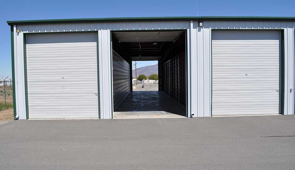 Drive-through unit at Sierra Boat and RV Storage