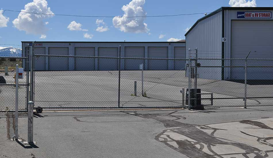 Sierra Boat and RV Storage entrance gate