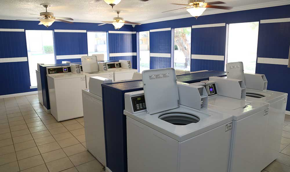 The clean laundry room at Coventry Pointe Apartments