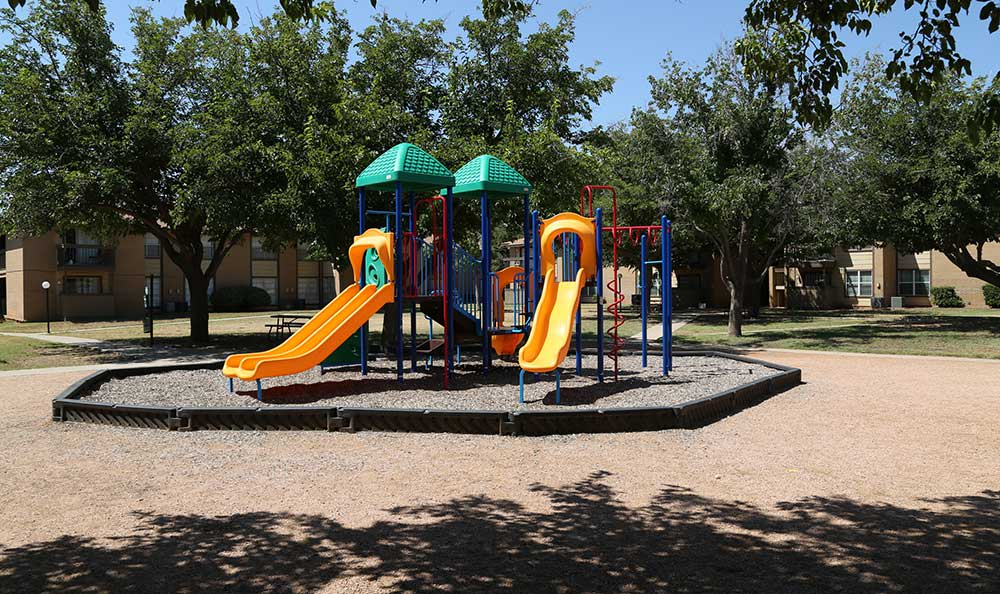 The playground at Coventry Pointe Apartments