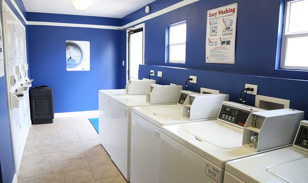 A convenient laundry room at Park Square Apartments