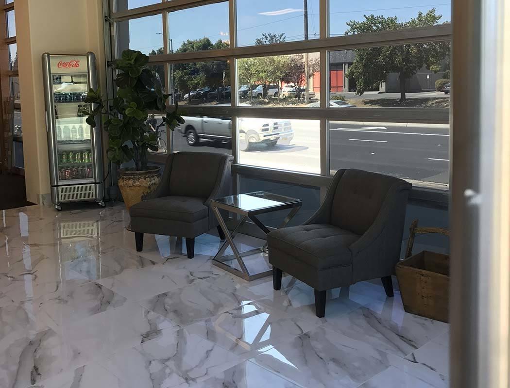 Lobby area at Superior Self Storage in Rancho Cordova