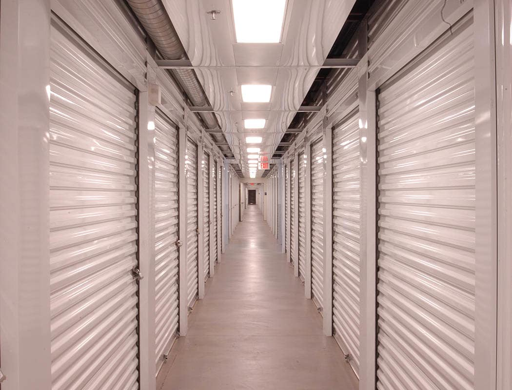 Interior storage units at Superior Self Storage in Rancho Cordova