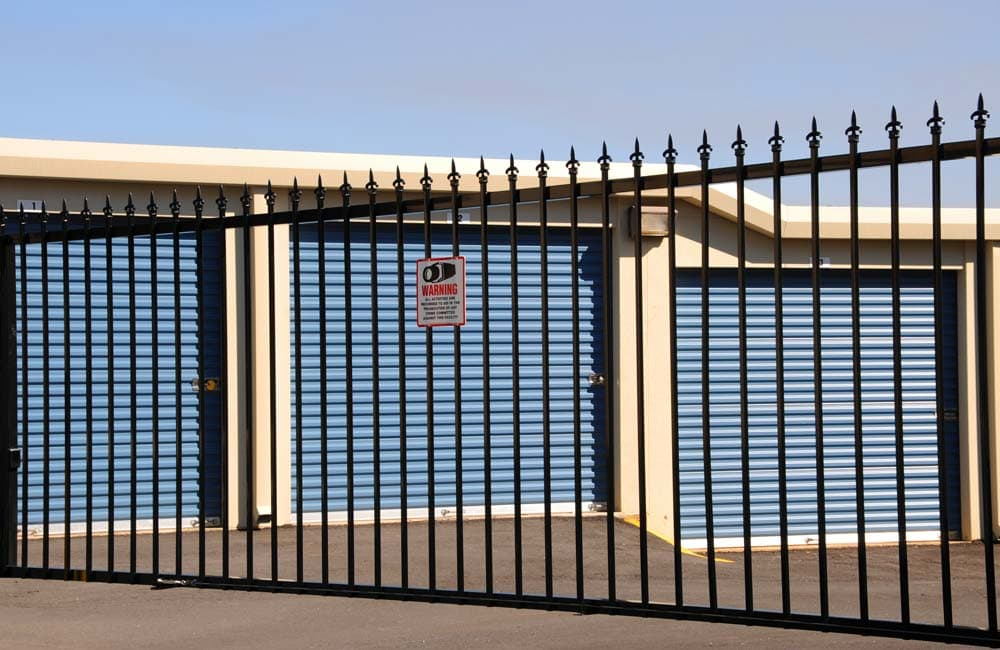 Electronic entrance at Iron Gate Storage - Mill Plain