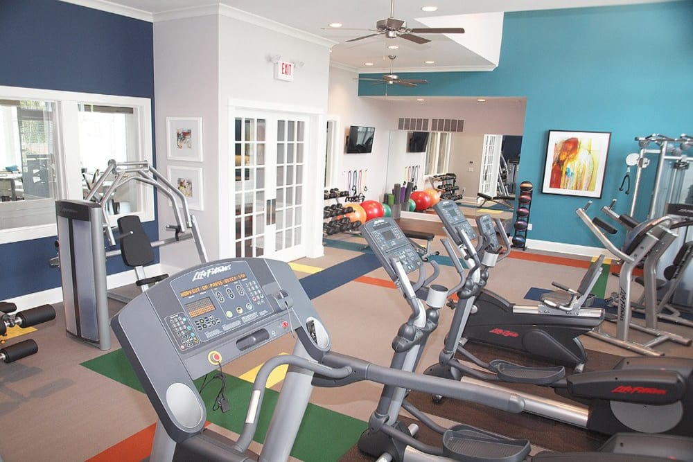 Fitness center at Meridian on Shelbyville