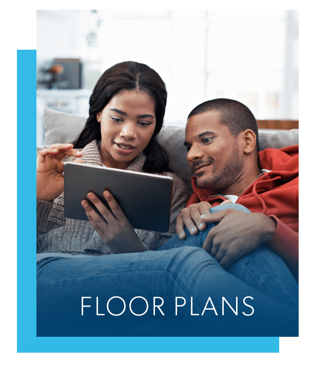 Floor plans at Rolling Gardens Apartment Homes