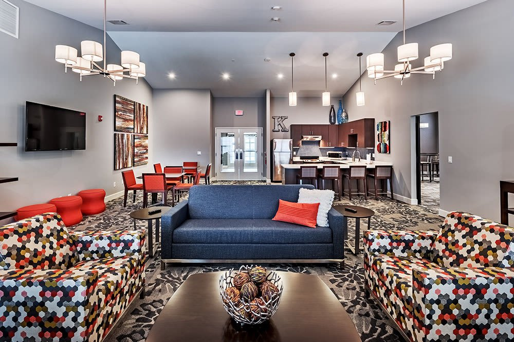 Enjoy apartments with a unique clubhouse at The Kane at Gray's Landing