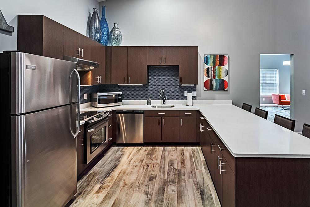Community kitchen at apartments in Aliquippa, Pennsylvania