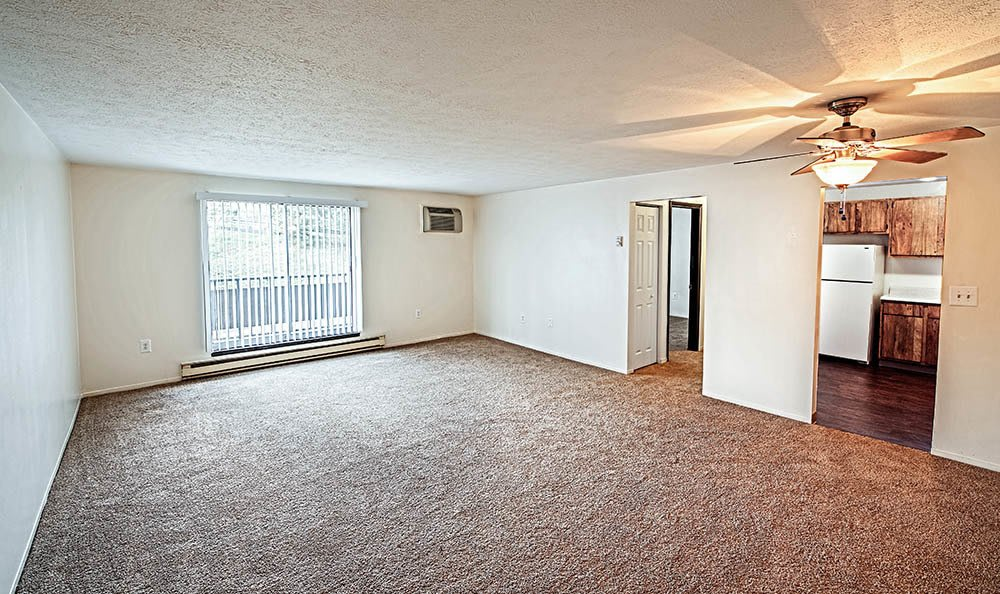 Living room at apartments in Pittsburgh, Pennsylvania