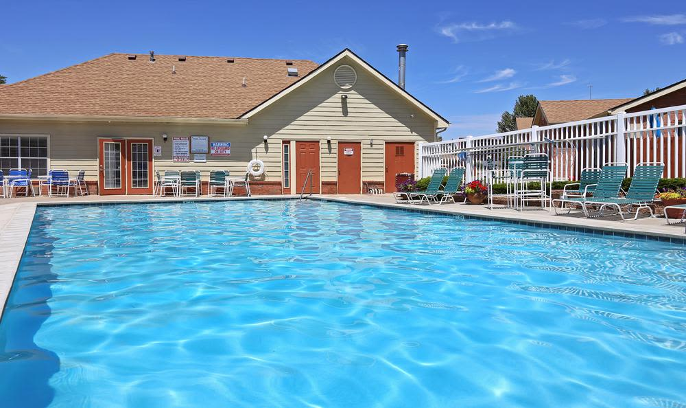 Greens of Northglenn Apartments offers a swimming pool in Northglenn, Colorado