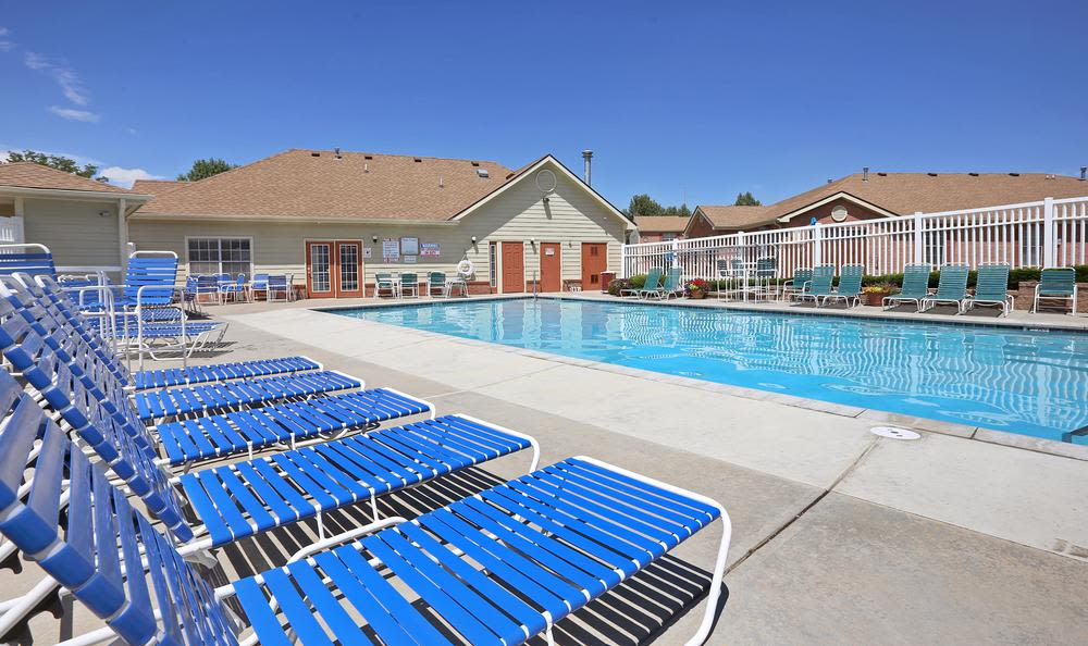Enjoy apartments with a swimming pool at Greens of Northglenn Apartments