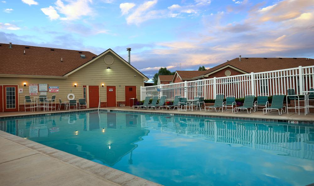 Swimming pool at apartments in Northglenn, Colorado
