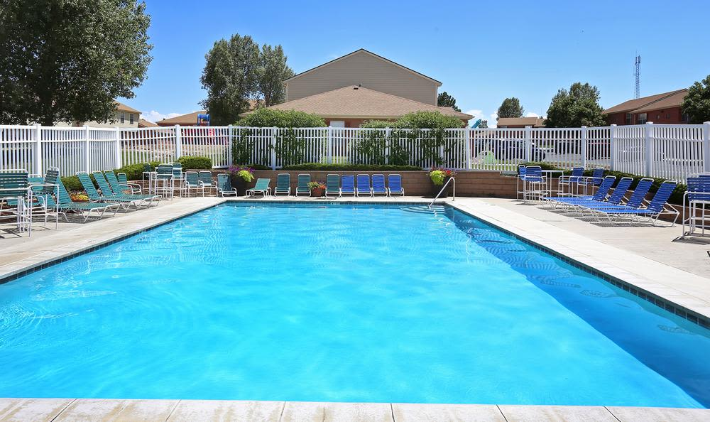 Swimming pool at Greens of Northglenn Apartments in Northglenn, Colorado