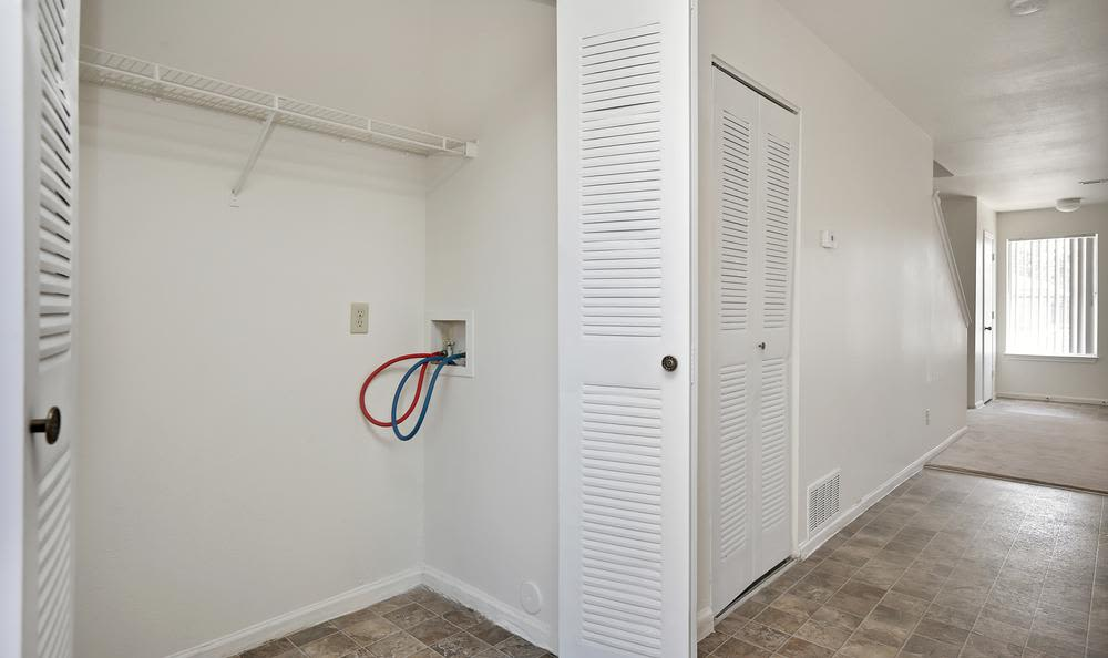 Washer/dryer space at apartments in Northglenn, Colorado