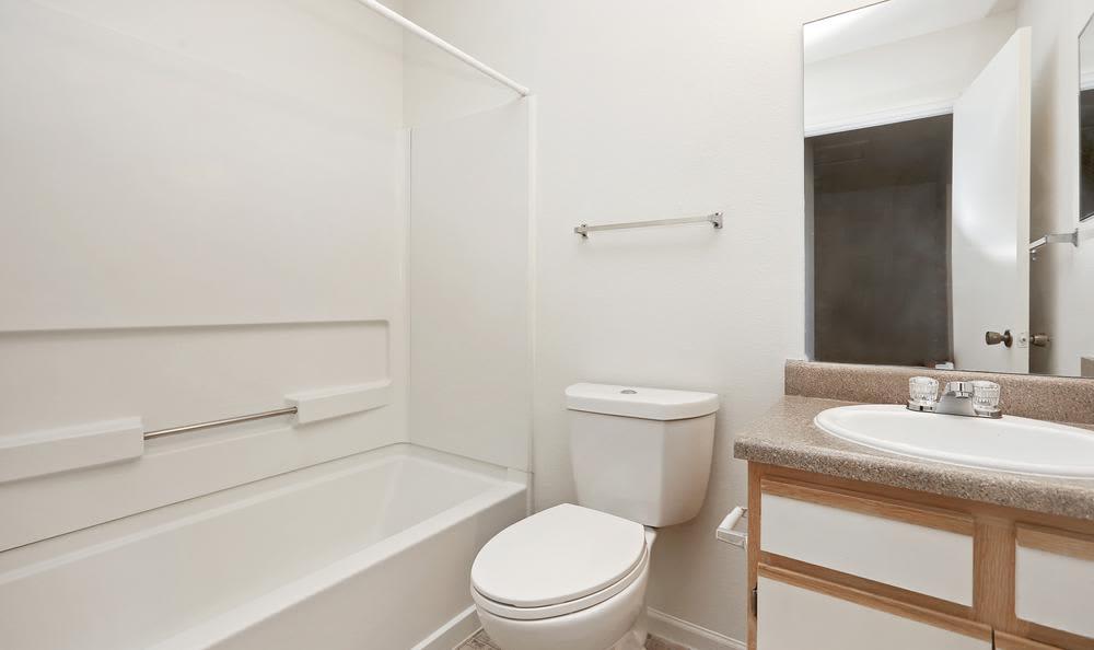 Beautiful bathroom at Greens of Northglenn Apartments in Northglenn, Colorado