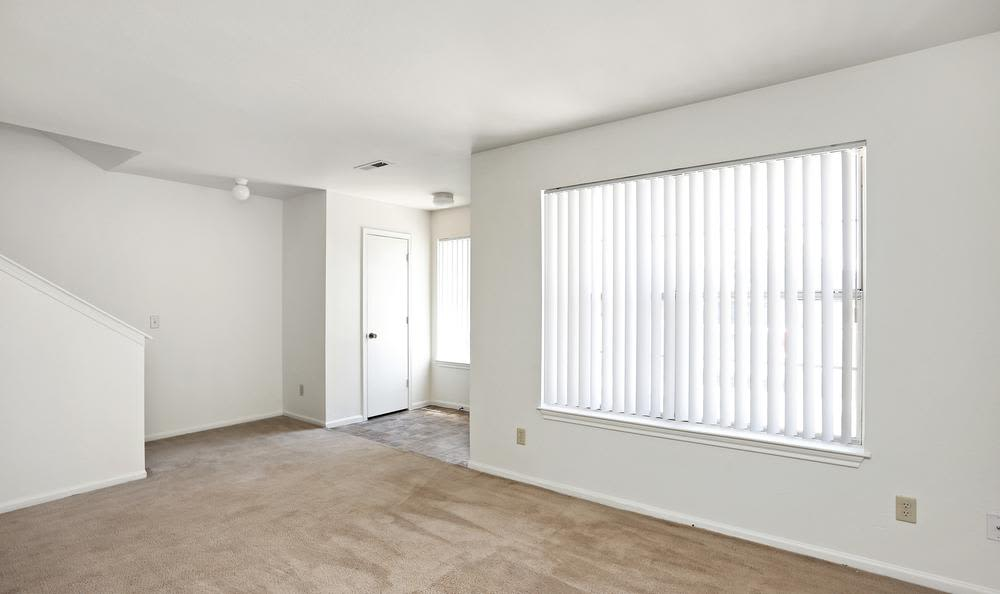 Spacious living room at apartments in Northglenn, Colorado