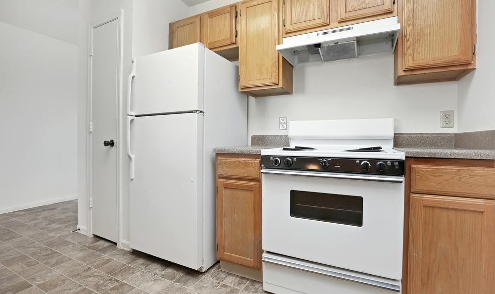 Spacious kitchen at Greens of Northglenn Apartments in Northglenn, Colorado