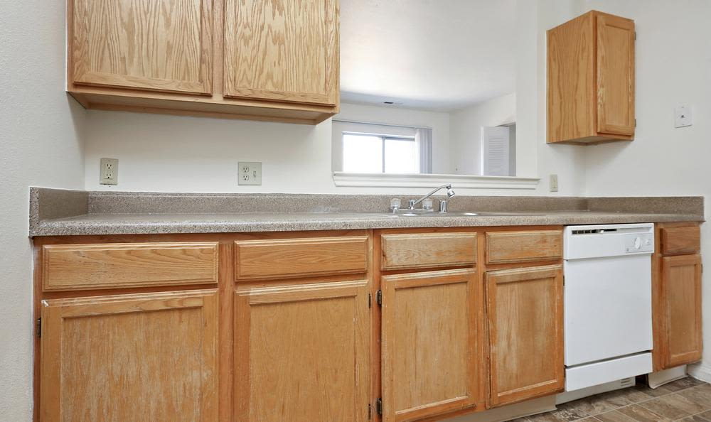 Beautiful kitchen at Greens of Northglenn Apartments in Northglenn, Colorado