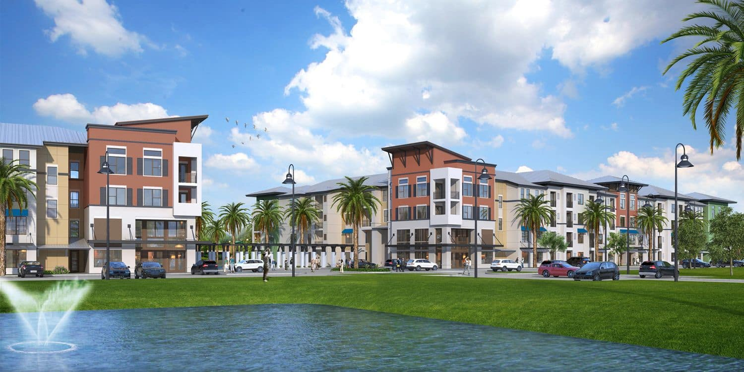 Rendering of our luxury apartment community at Ancora Apartments
