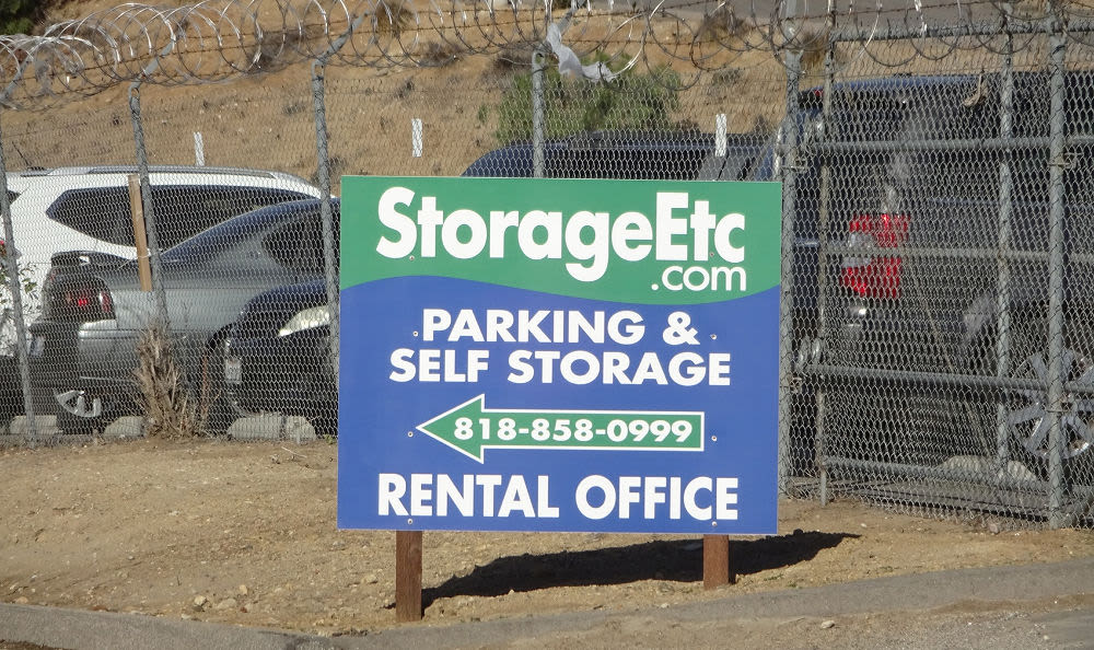 Entry Sign at Storage Etc... Sylmar