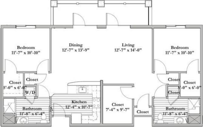 DDA - 2 Bed 2 Bath
