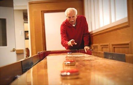 Gentleman enjoying Glenwood Place Senior Living assisted living