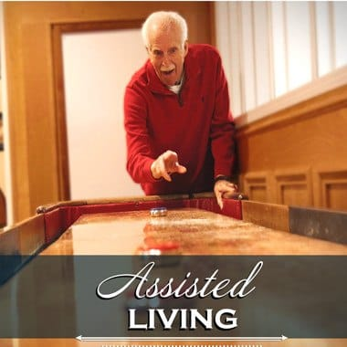 Assisted living resident at Glenwood Place Senior Living