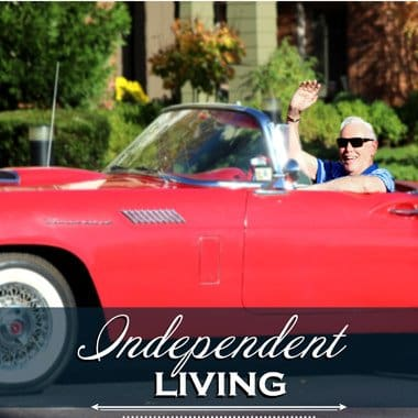 Happy Independent Living Resident at Glenwood Place Senior Living.
