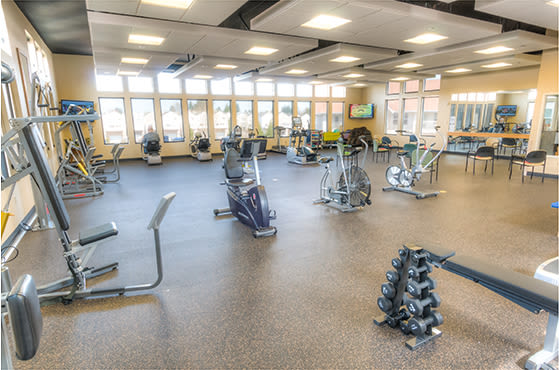 Glenwood Place Senior Living Sky gym helps residents stay fit and active