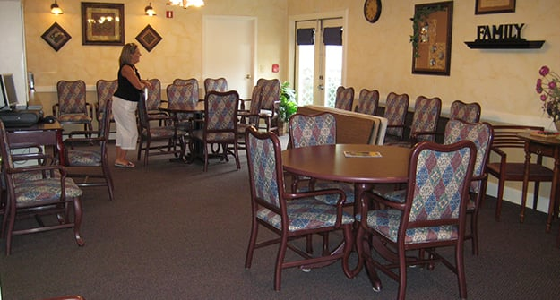 Activity room at Flower Mound Assisted Living.