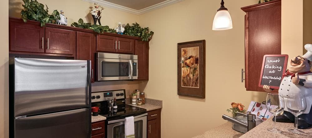 Our independent living facility in Charlotte, NC offers fully equipped kitchens