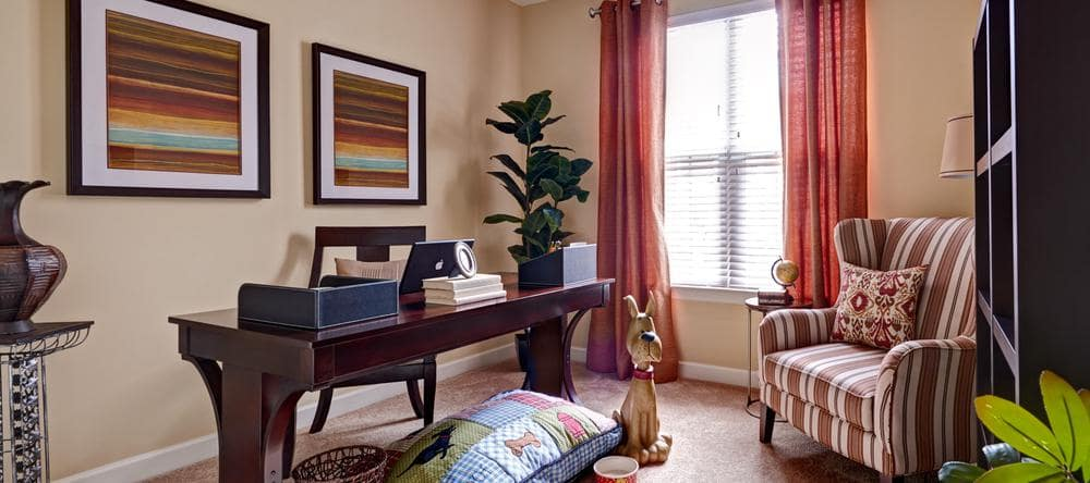 Enjoy a cozy living space at Waltonwood Providence assisted living facility