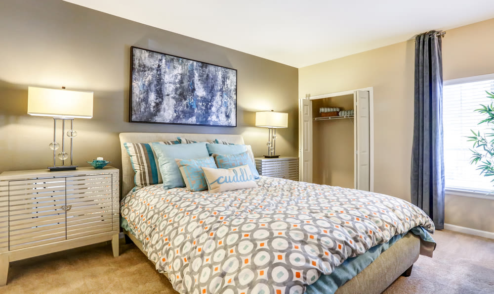 Bedroom at Skyecrest Apartments in Lakewood, CO
