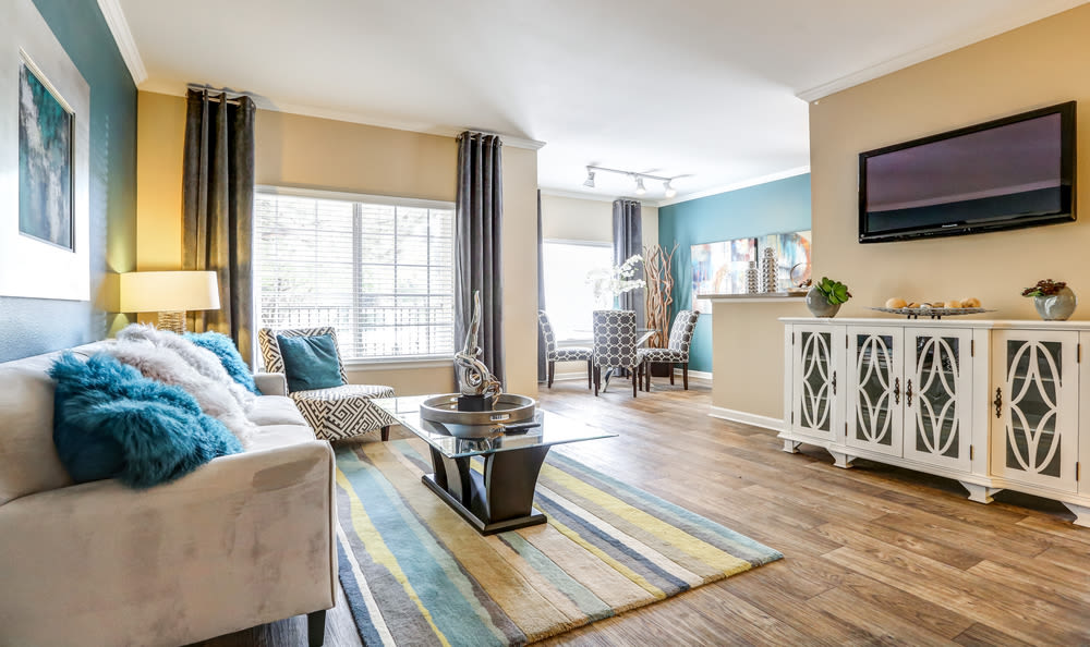 Living Room at Skyecrest Apartments