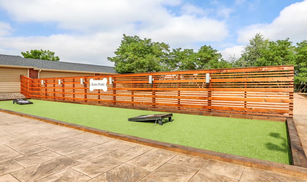 Corn Hole & Dog Park at Skyecrest Apartments