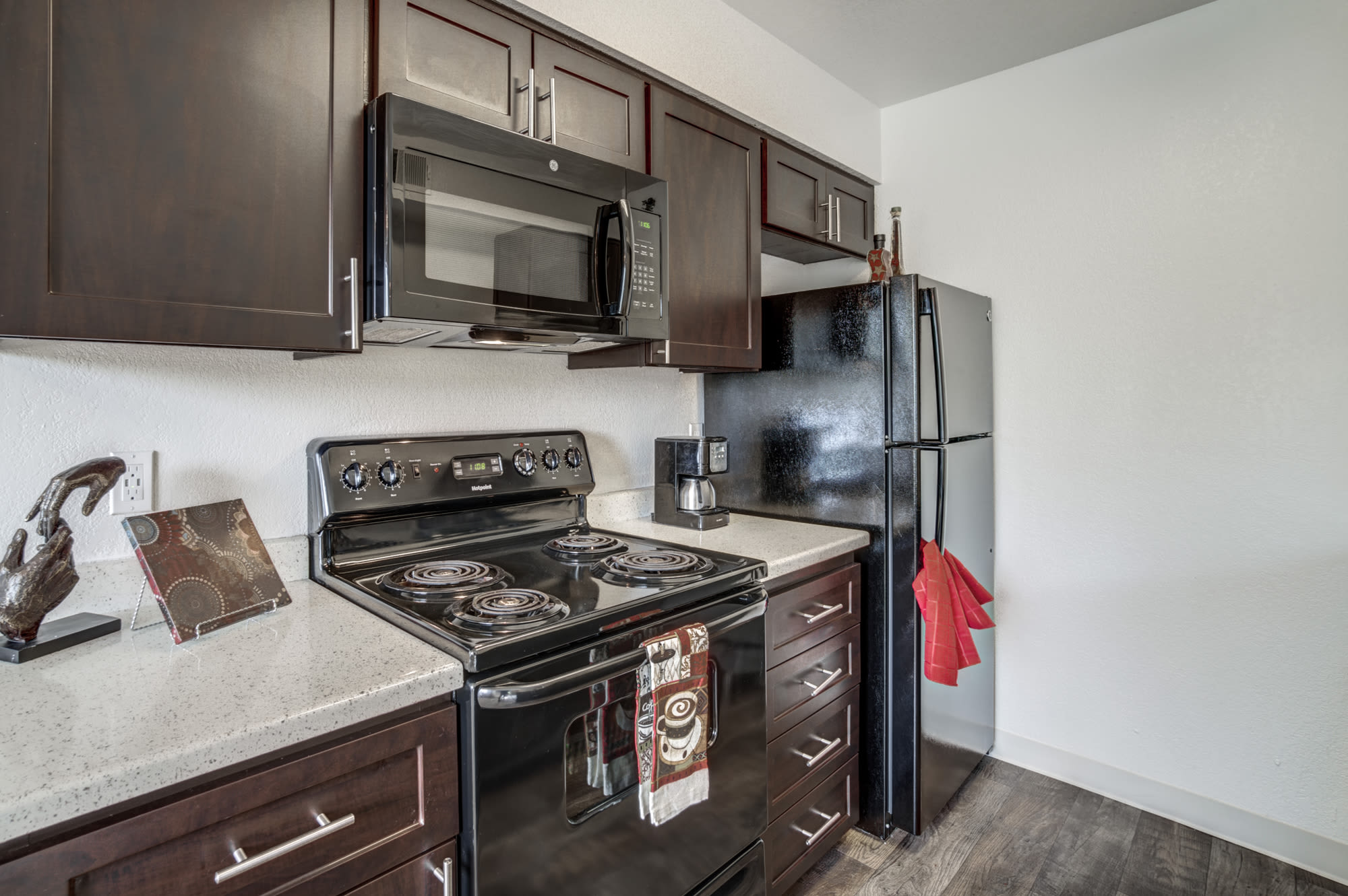 Kitchen at Parkside Commons Apartments in San Leandro