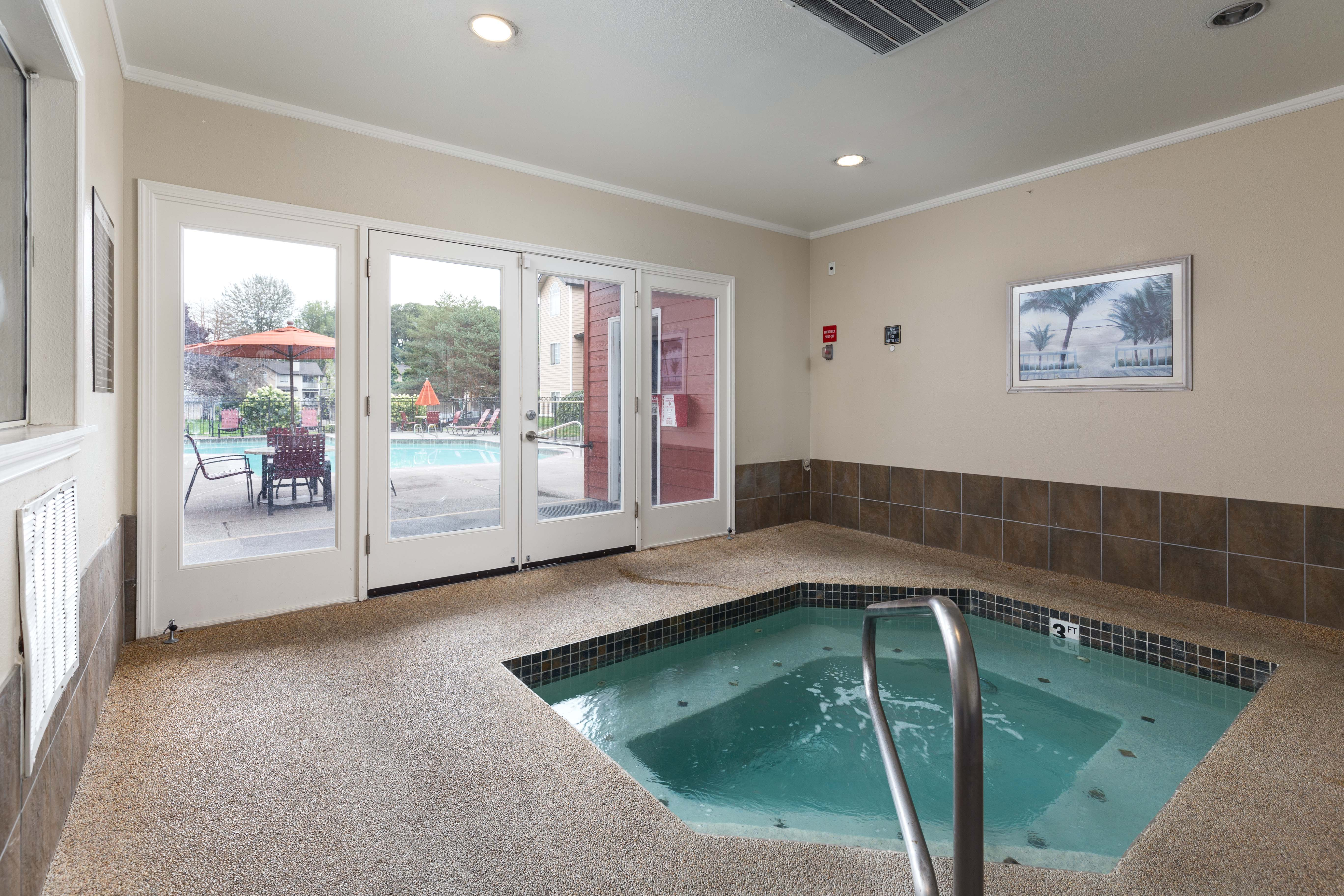 Indoors Hot Tub at Walnut Grove Landing Apartments in Vancouver, WA