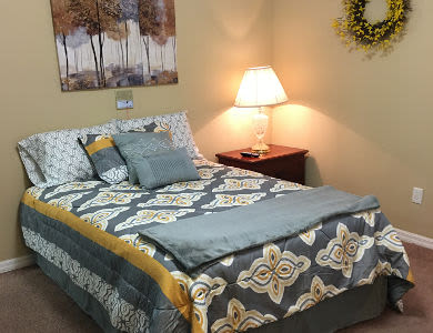 Spacious bedroom in Sun City Senior Living